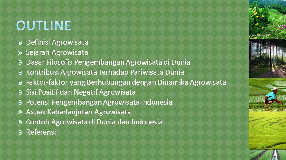 Outline Definisi Agrowisata Sejarah Agrowisata