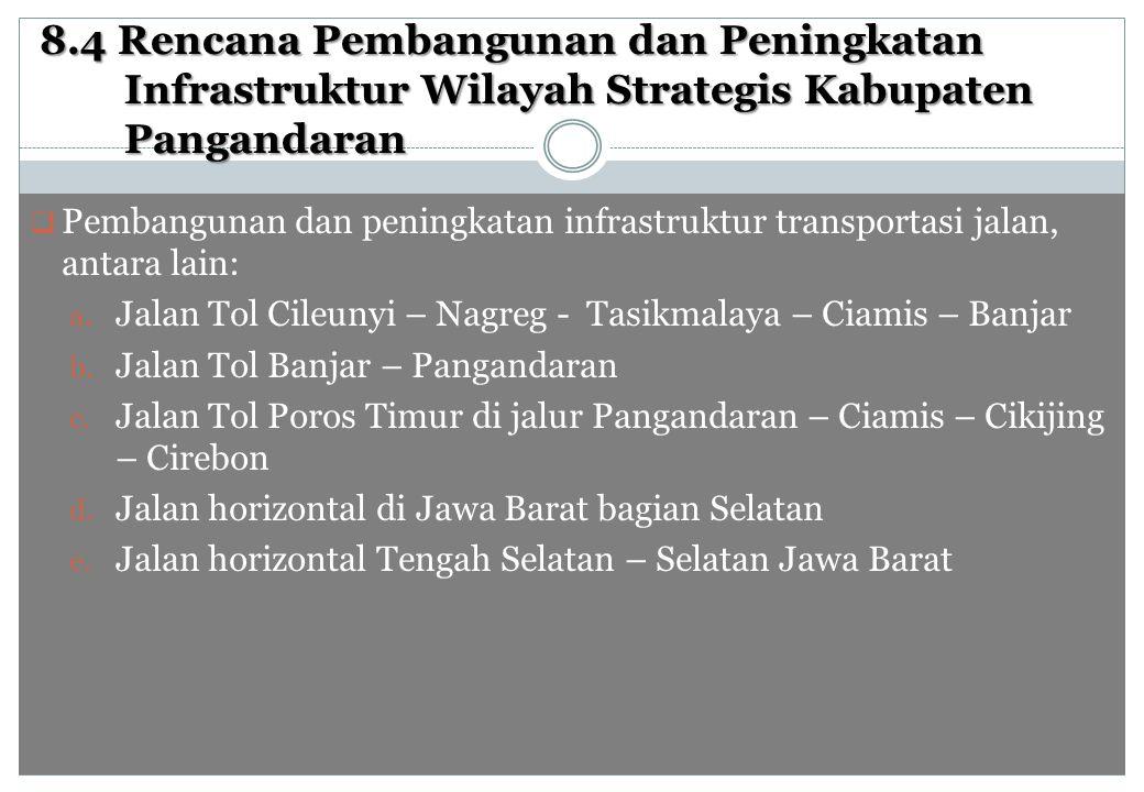 8.4 Rencana Pembangunan dan Peningkatan Infrastruktur Wilayah Strategis Kabupaten Pangandaran