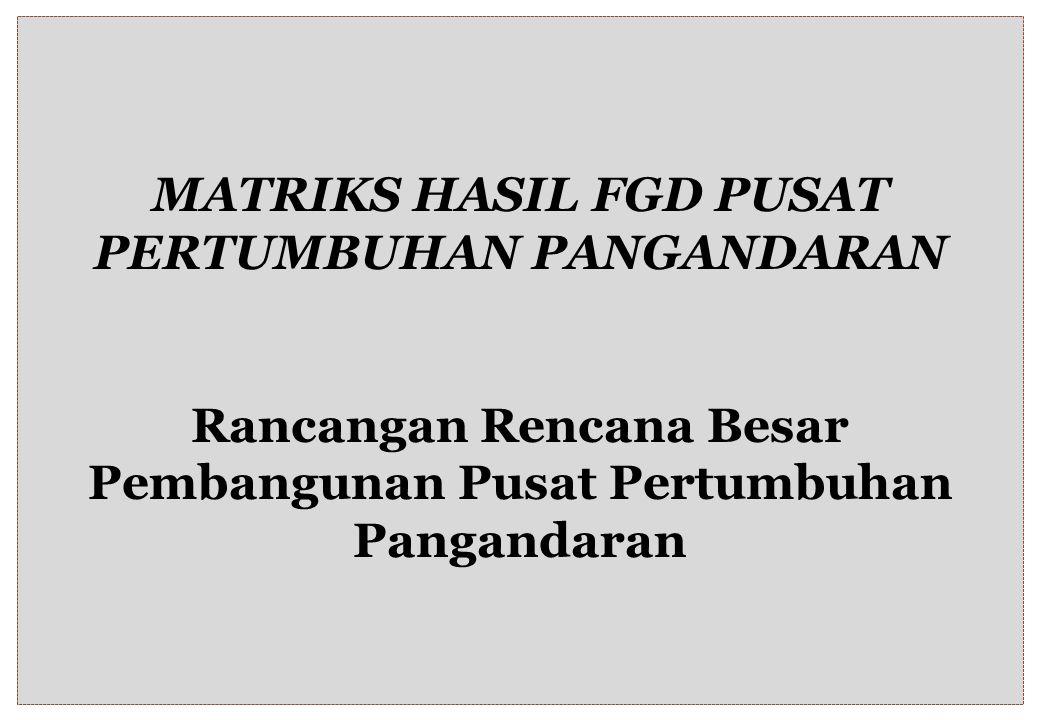 MATRIKS HASIL FGD PUSAT PERTUMBUHAN PANGANDARAN