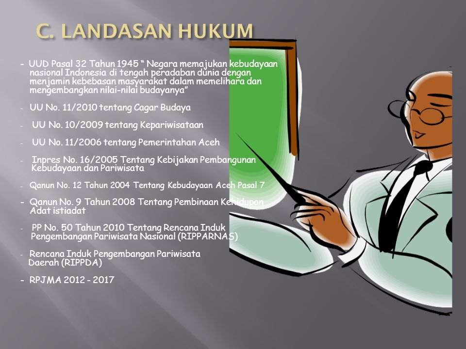 C. LANDASAN HUKUM UU No. 11/2010 tentang Cagar Budaya