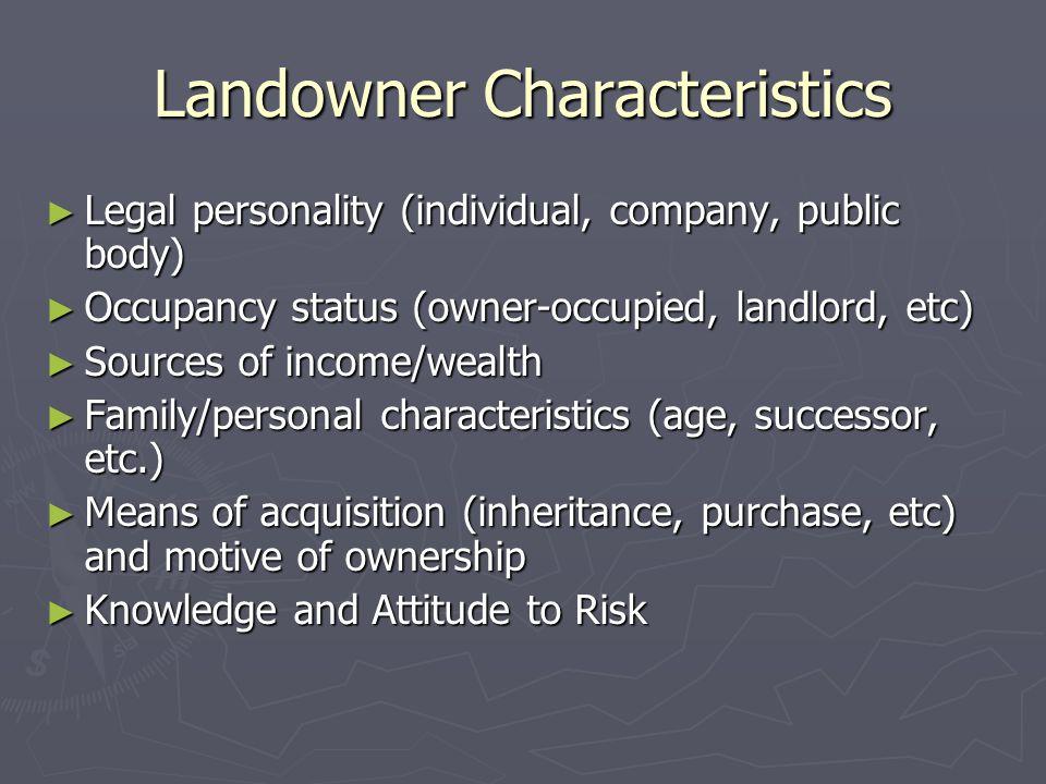 Landowner Characteristics