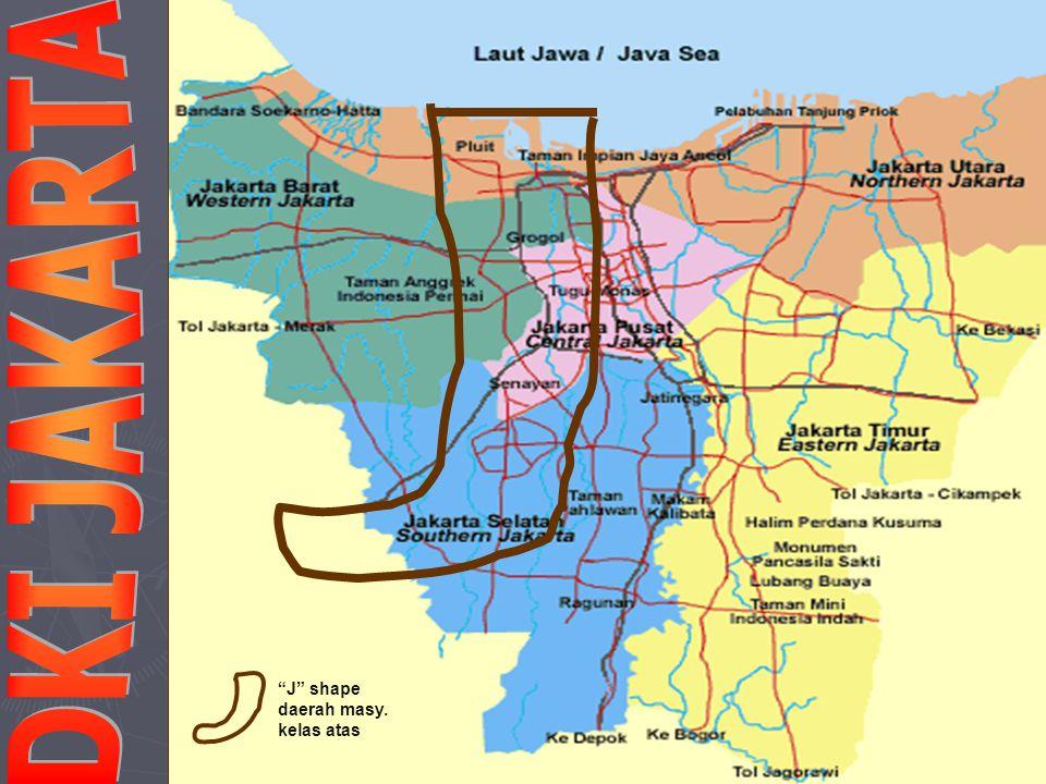 DKI JAKARTA J shape daerah masy. kelas atas