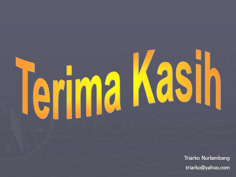 Terima Kasih Triarko Nurlambang triarko@yahoo.com