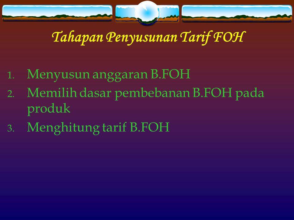 Tahapan Penyusunan Tarif FOH