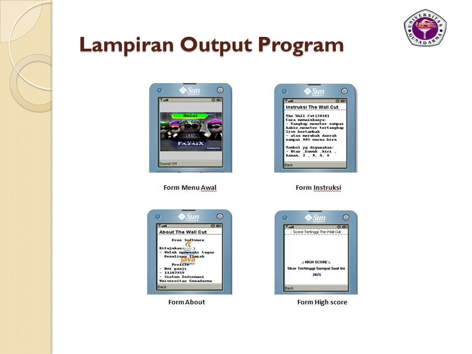 Lampiran Output Program