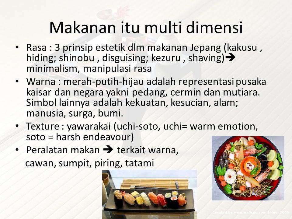 Makanan itu multi dimensi
