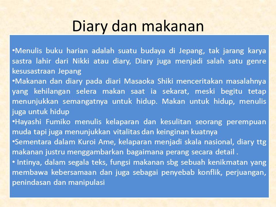 Diary dan makanan