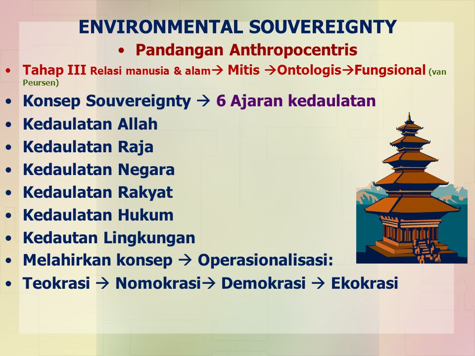 ENVIRONMENTAL SOUVEREIGNTY