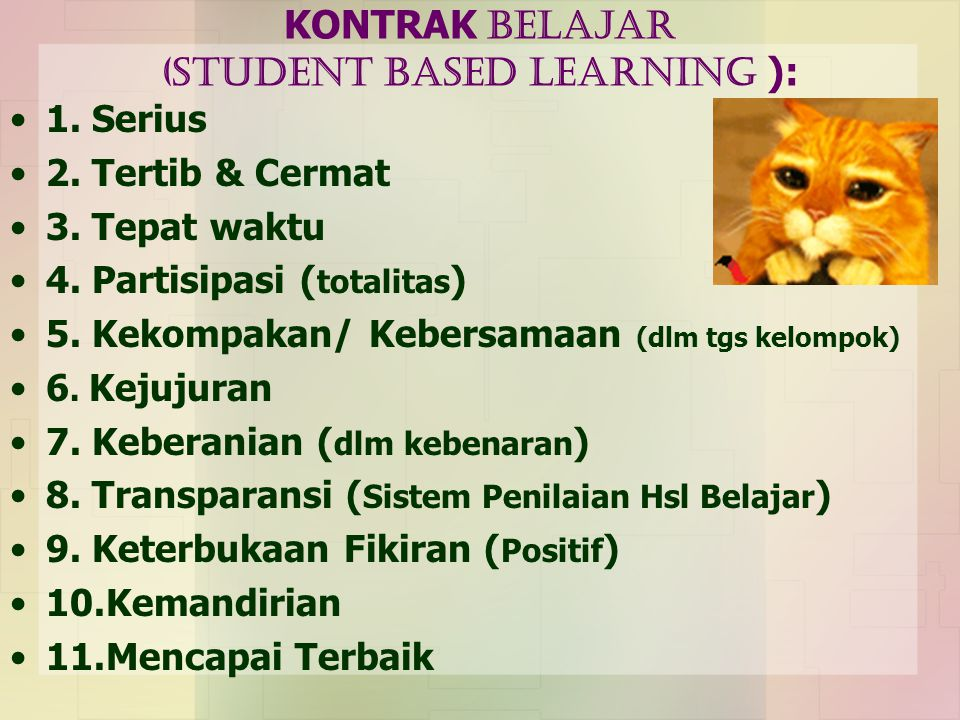 KONTRAK BELAJAR (Student Based LEARNING ):