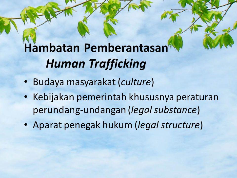 Hambatan Pemberantasan Human Trafficking