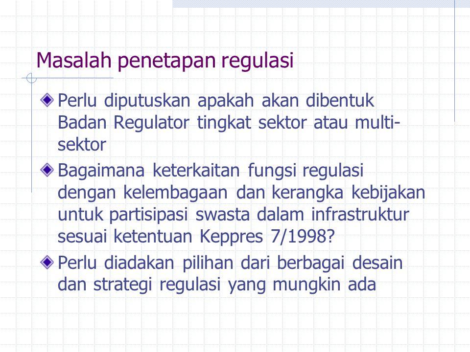 Masalah penetapan regulasi