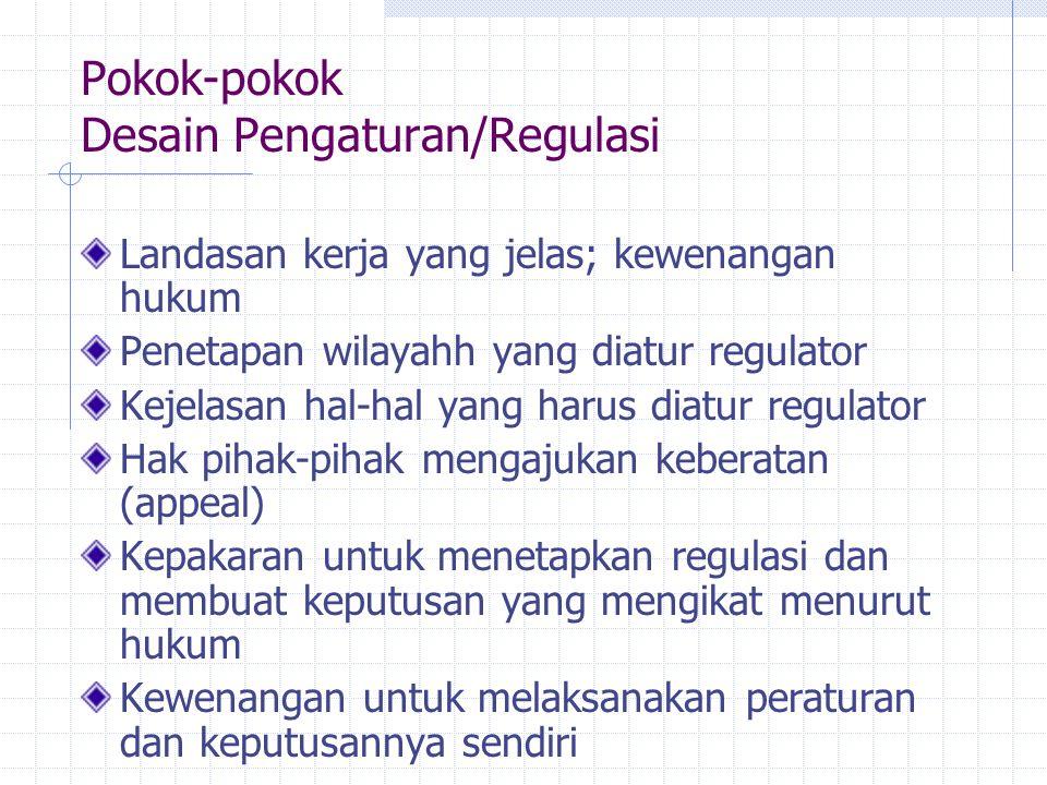 Pokok-pokok Desain Pengaturan/Regulasi