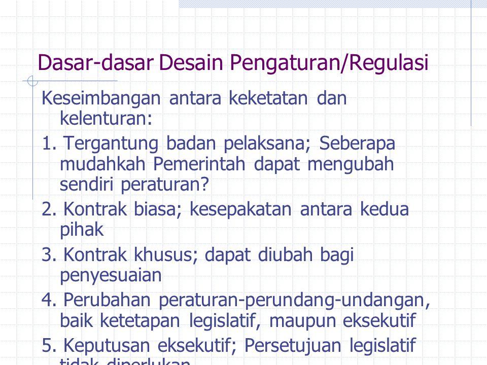 Dasar-dasar Desain Pengaturan/Regulasi