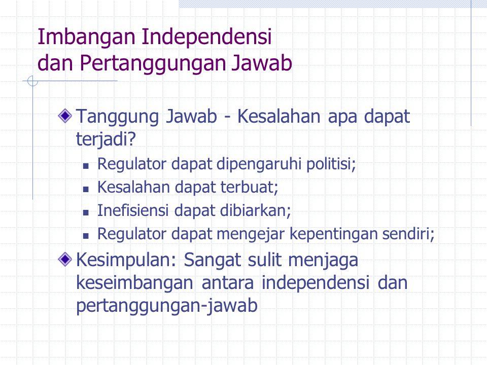 Imbangan Independensi dan Pertanggungan Jawab