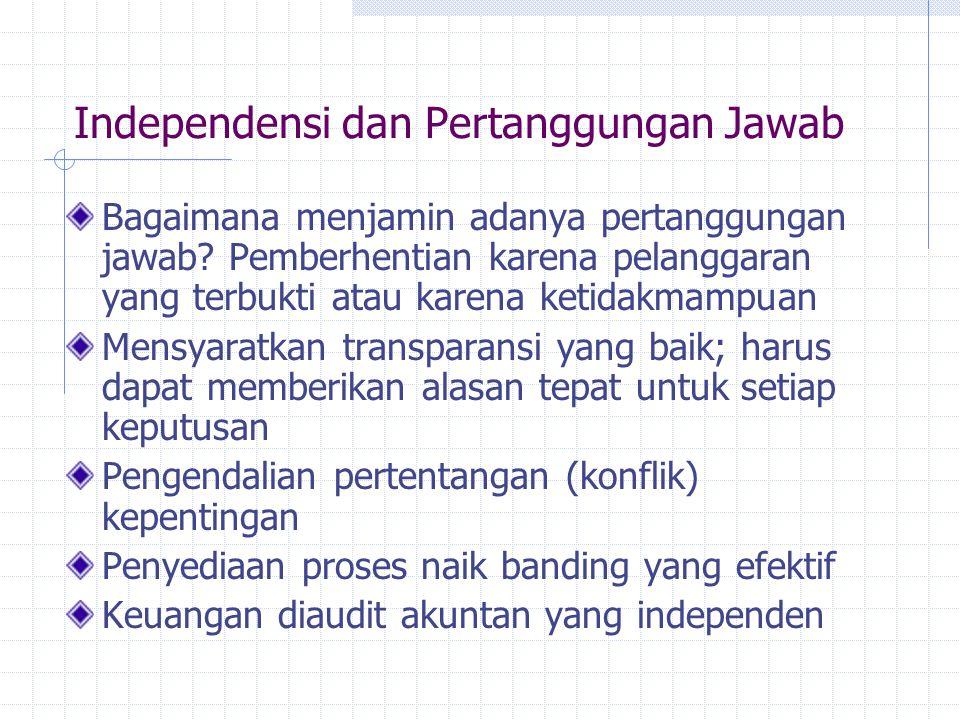 Independensi dan Pertanggungan Jawab