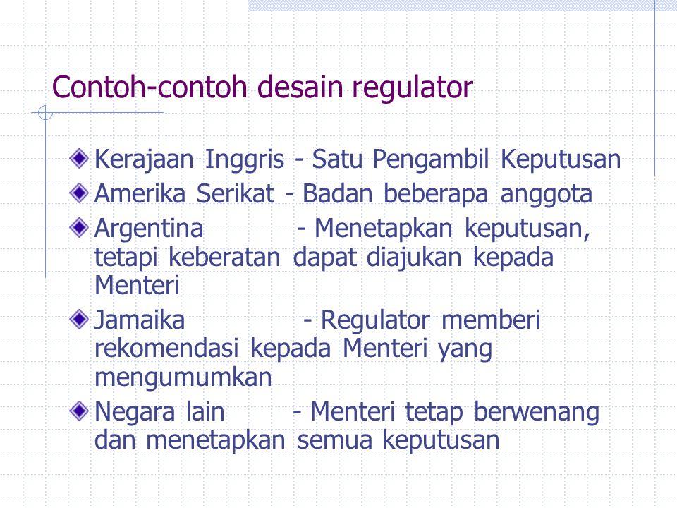 Contoh-contoh desain regulator