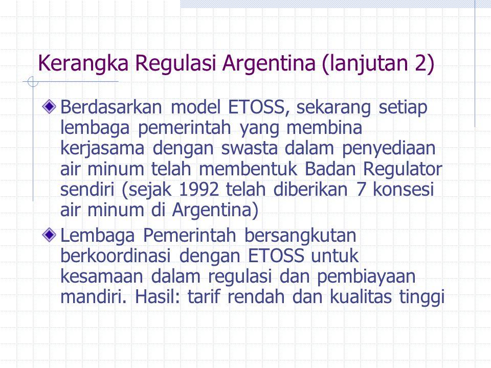 Kerangka Regulasi Argentina (lanjutan 2)