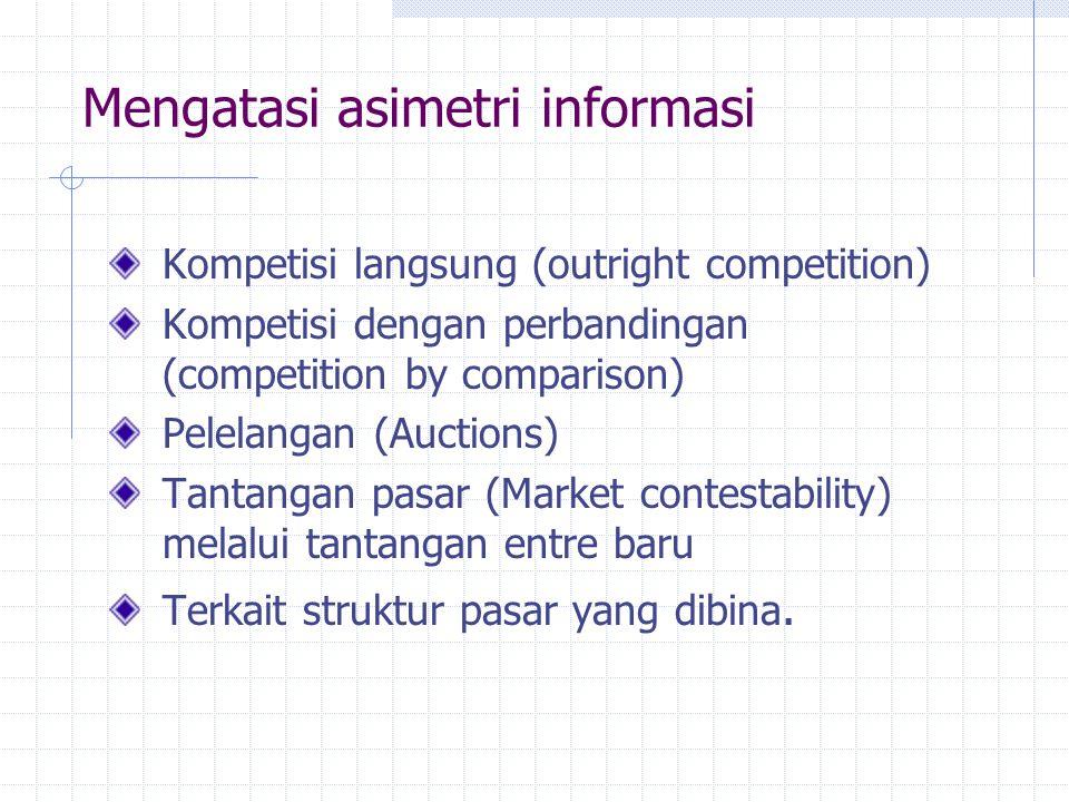Mengatasi asimetri informasi