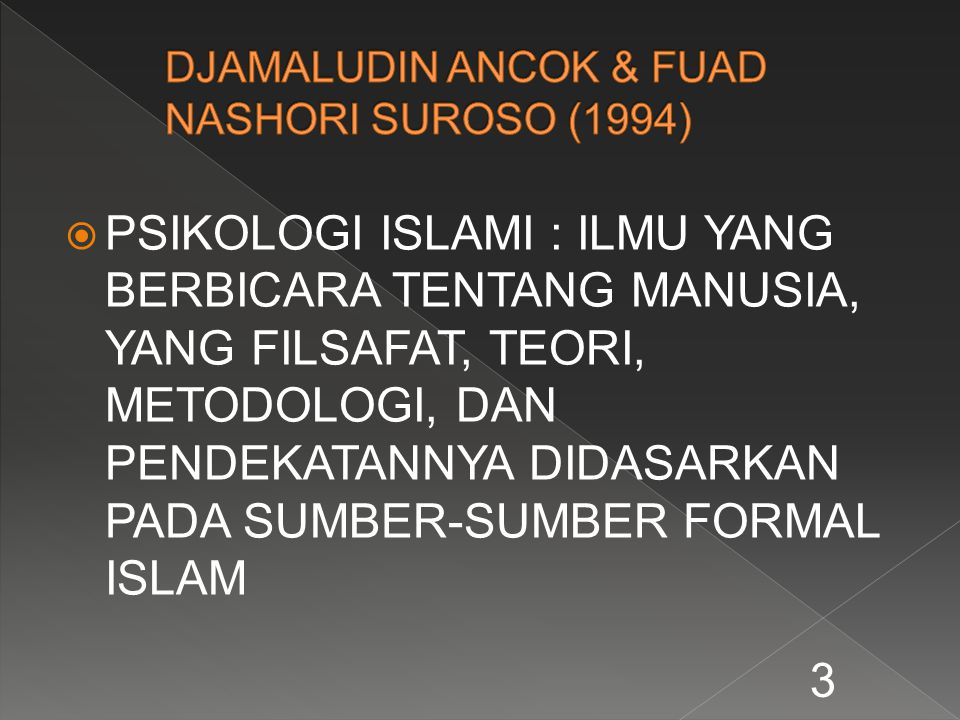DJAMALUDIN ANCOK & FUAD NASHORI SUROSO (1994)