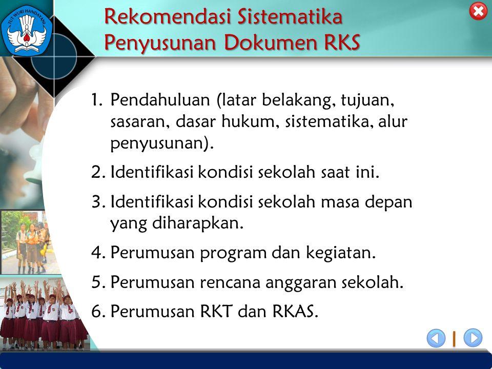 Rekomendasi Sistematika Penyusunan Dokumen RKS