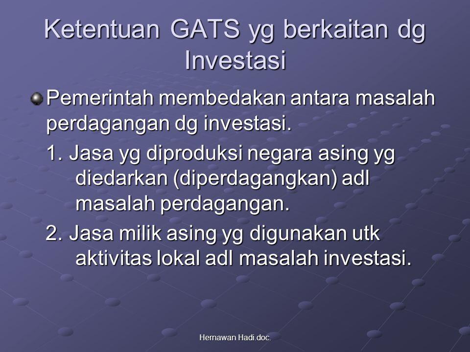 Ketentuan GATS yg berkaitan dg Investasi