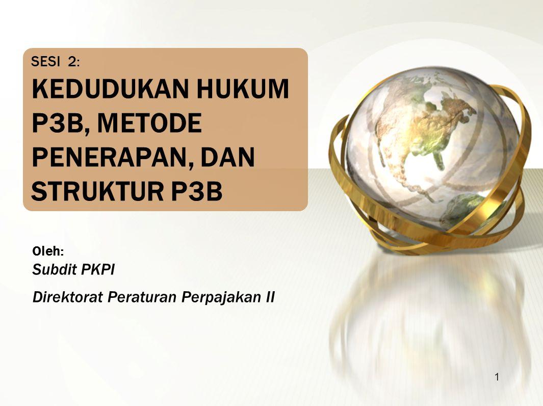 SESI 2: KEDUDUKAN HUKUM P3B, METODE PENERAPAN, DAN STRUKTUR P3B