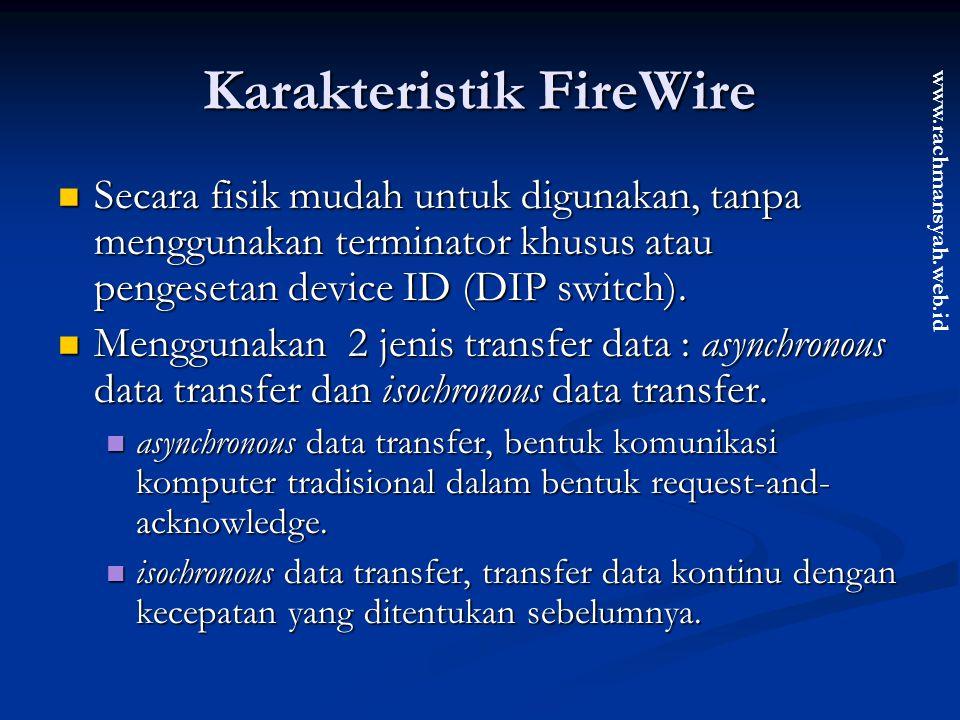 Karakteristik FireWire
