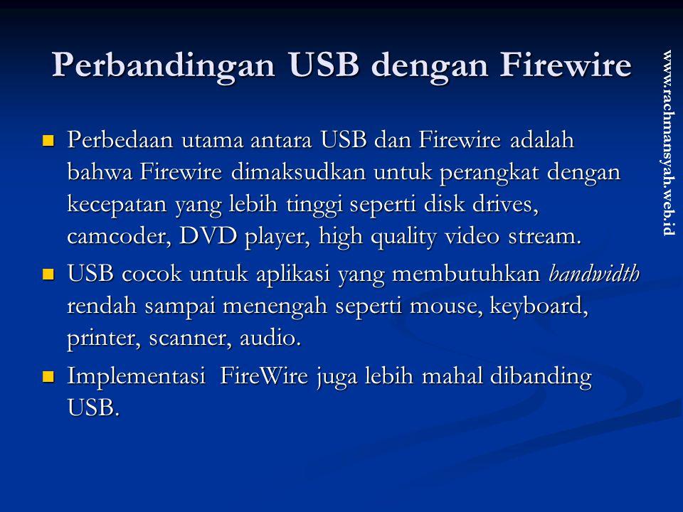 Perbandingan USB dengan Firewire