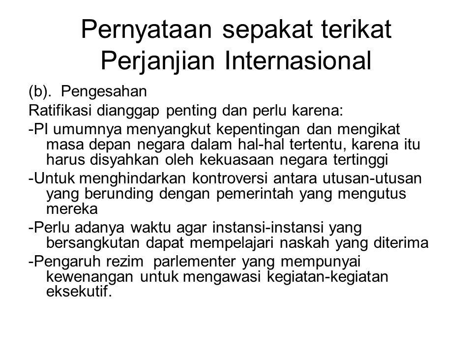 Pernyataan sepakat terikat Perjanjian Internasional