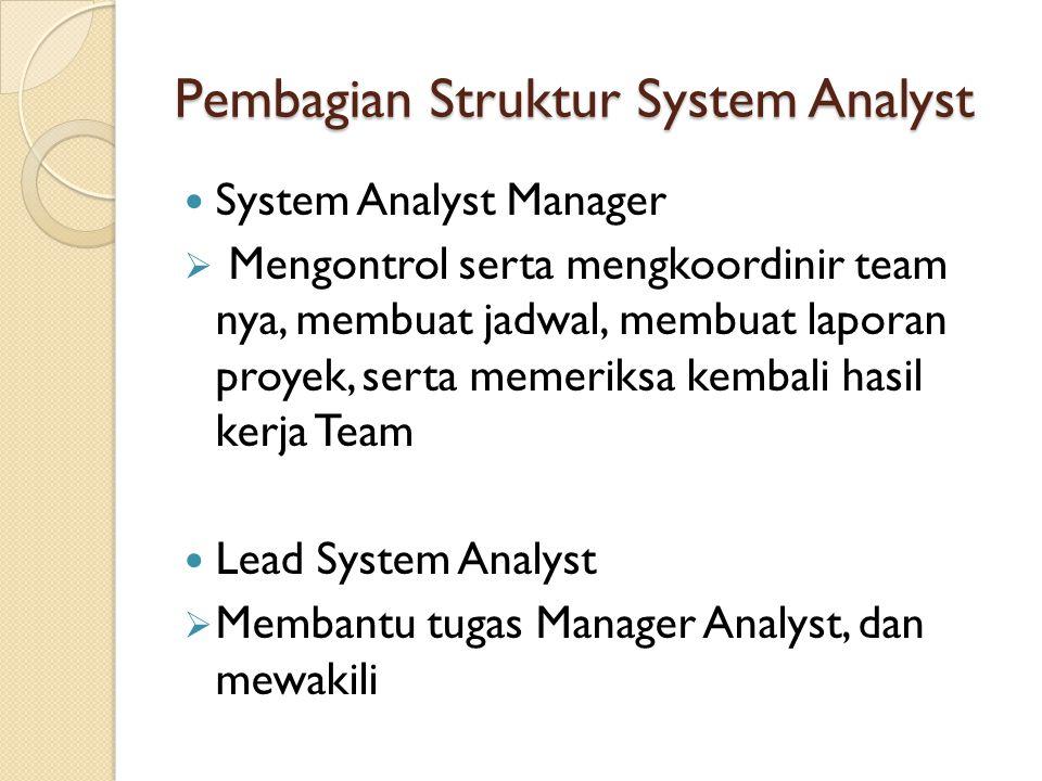 Pembagian Struktur System Analyst