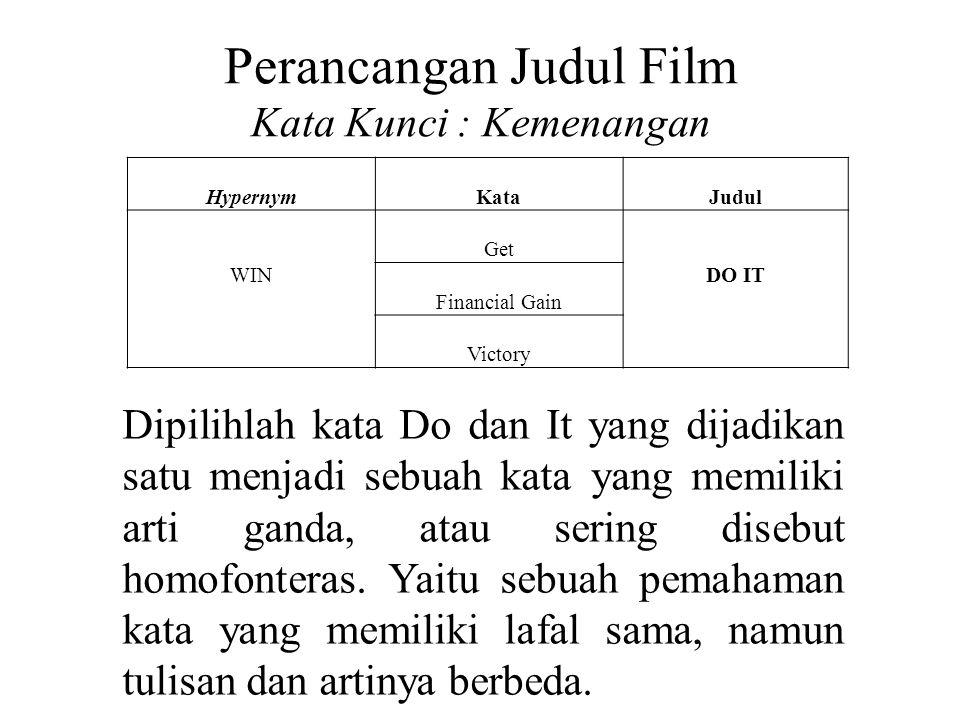 Perancangan Judul Film Kata Kunci : Kemenangan
