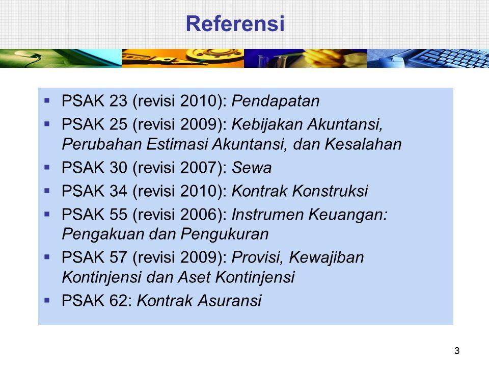 Referensi PSAK 23 (revisi 2010): Pendapatan