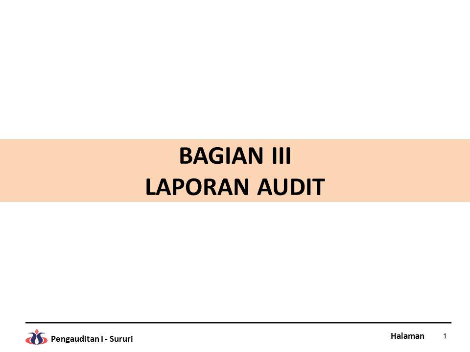 BAGIAN III LAPORAN AUDIT