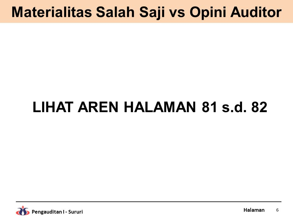 Materialitas Salah Saji vs Opini Auditor