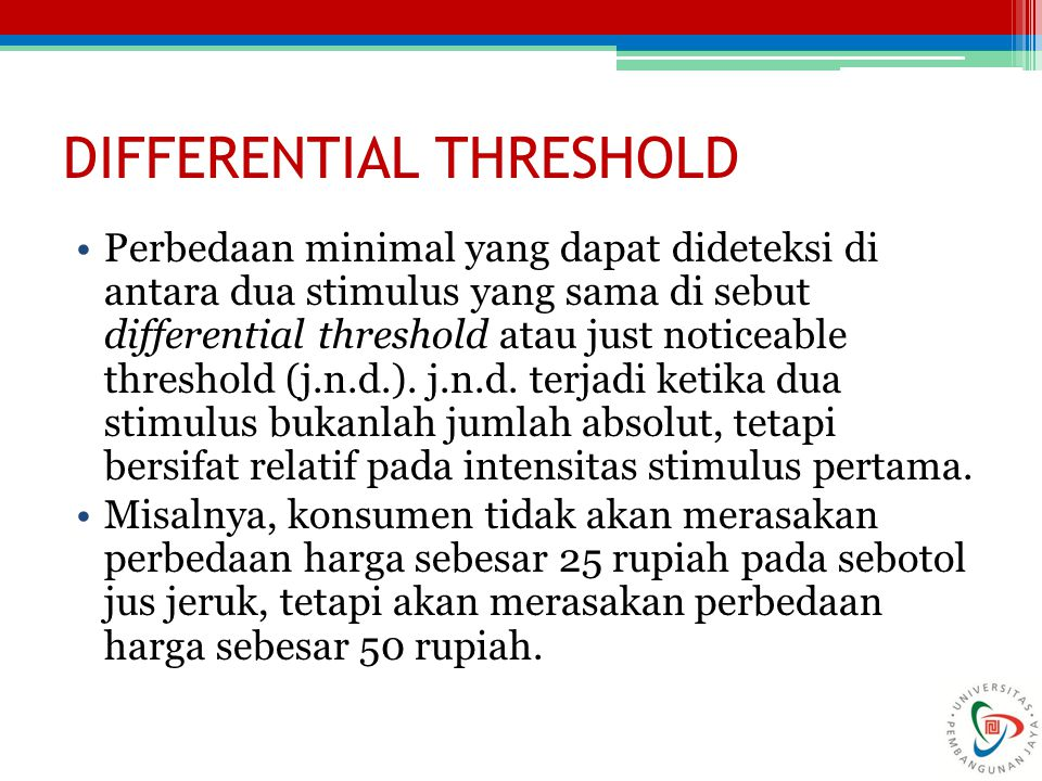 DIFFERENTIAL THRESHOLD