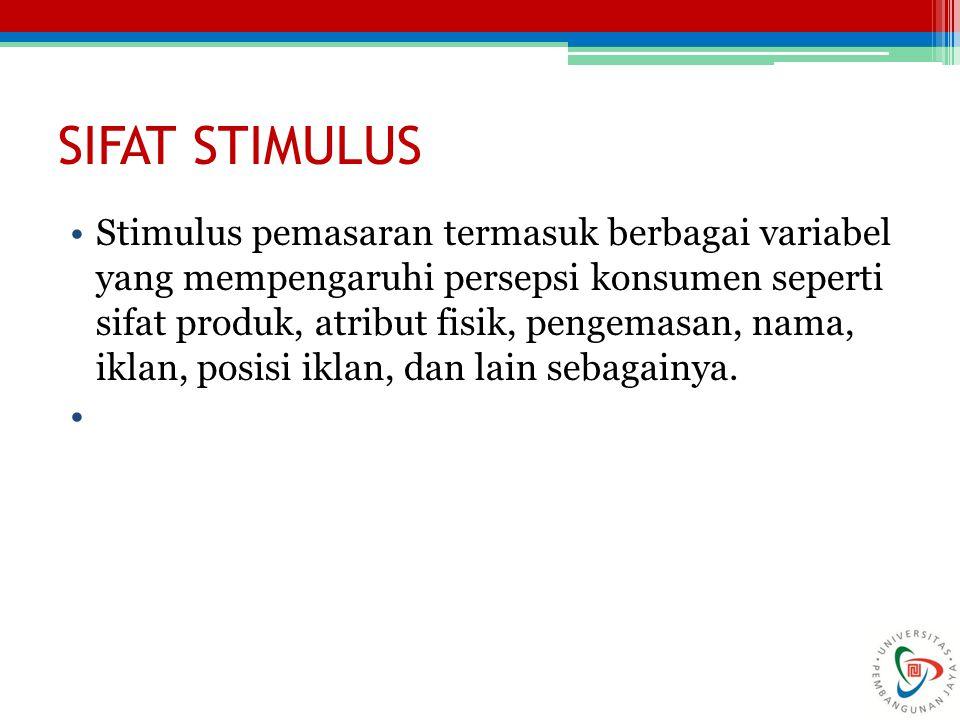 SIFAT STIMULUS