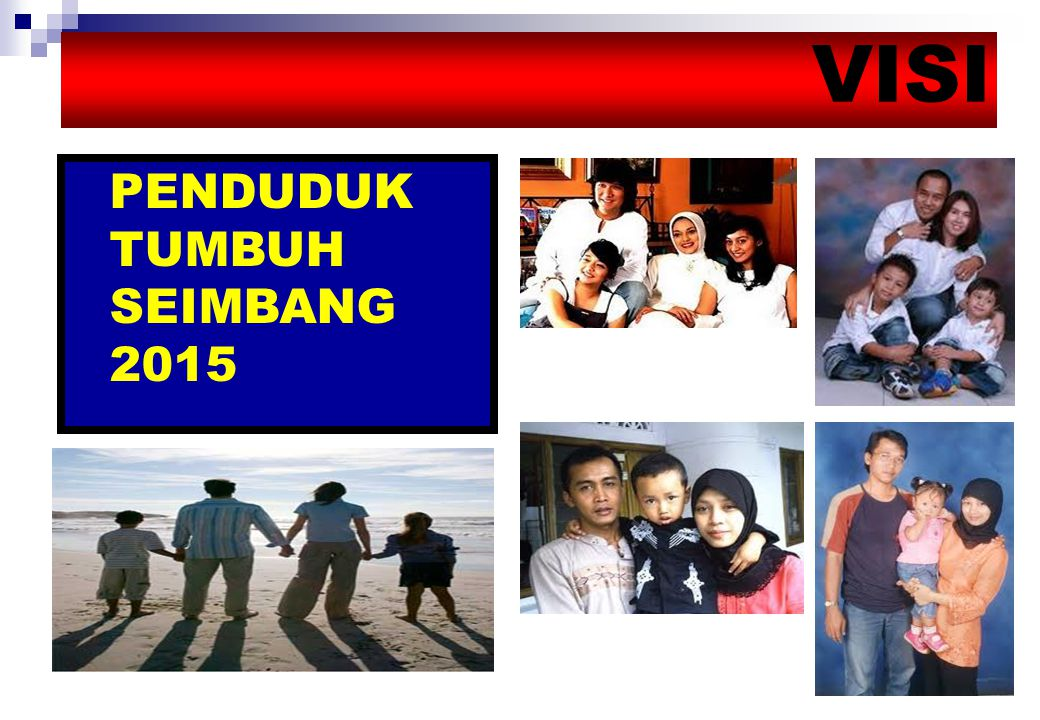 VISI PENDUDUK TUMBUH SEIMBANG 2015