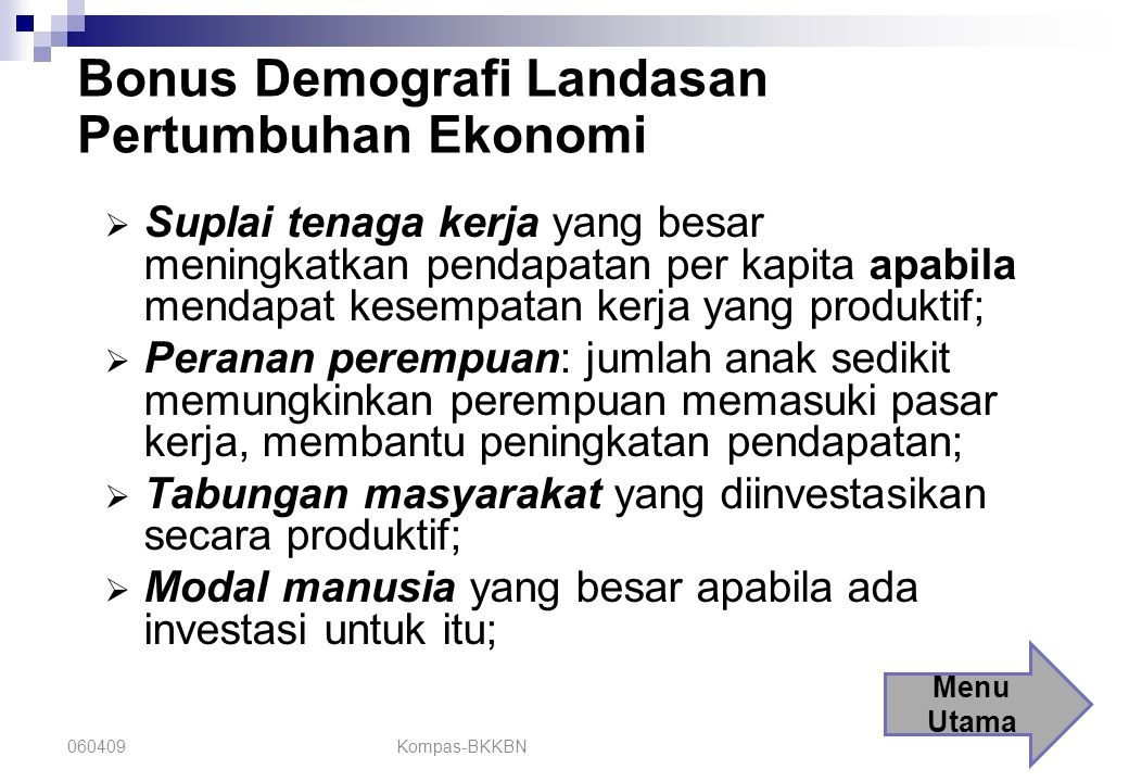 Bonus Demografi Landasan Pertumbuhan Ekonomi