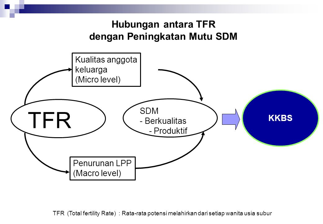 Hubungan antara TFR dengan Peningkatan Mutu SDM