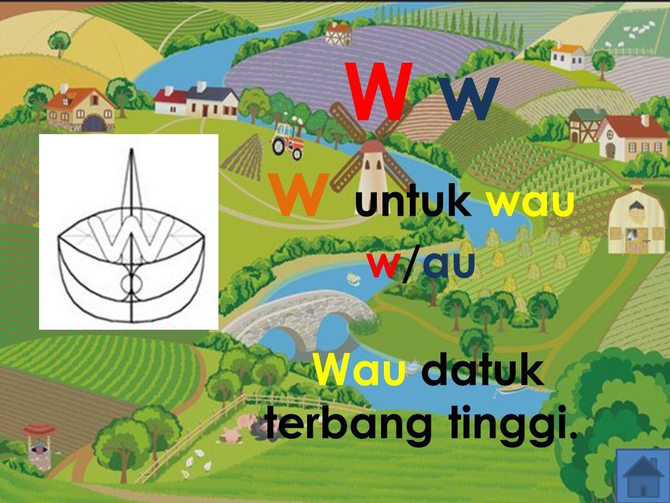 W w w untuk wau w/au Wau datuk terbang tinggi.