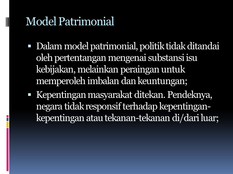 Model Patrimonial
