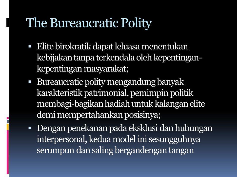The Bureaucratic Polity