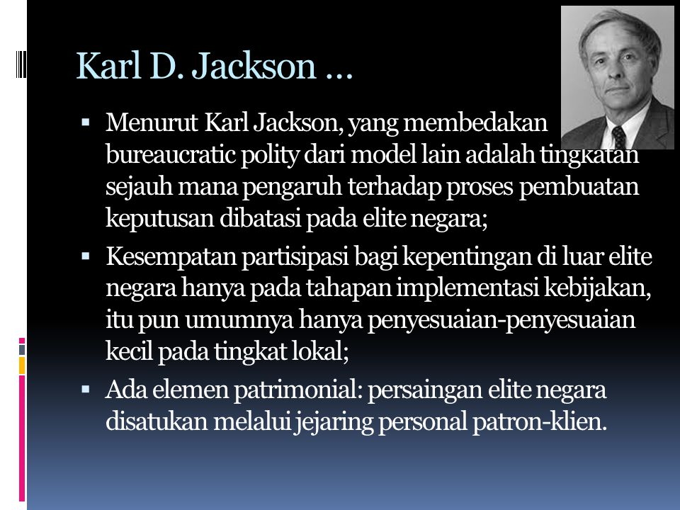Karl D. Jackson …