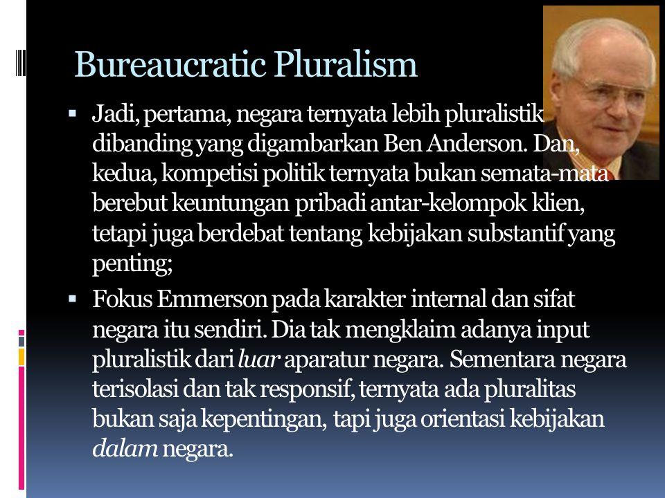 Bureaucratic Pluralism