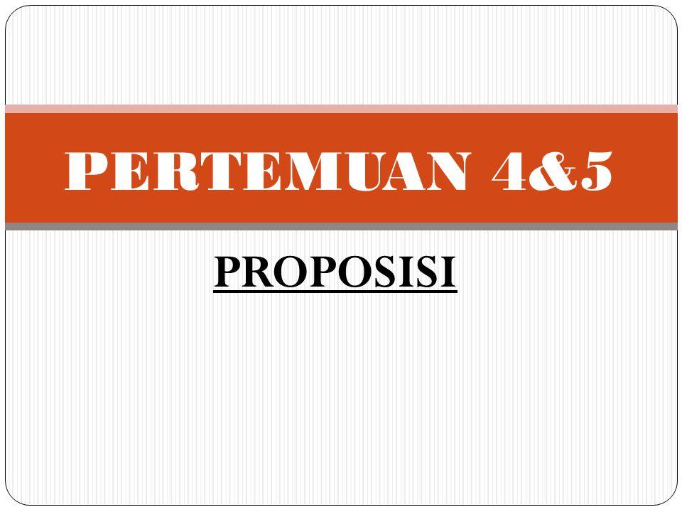PERTEMUAN 4&5 PROPOSISI