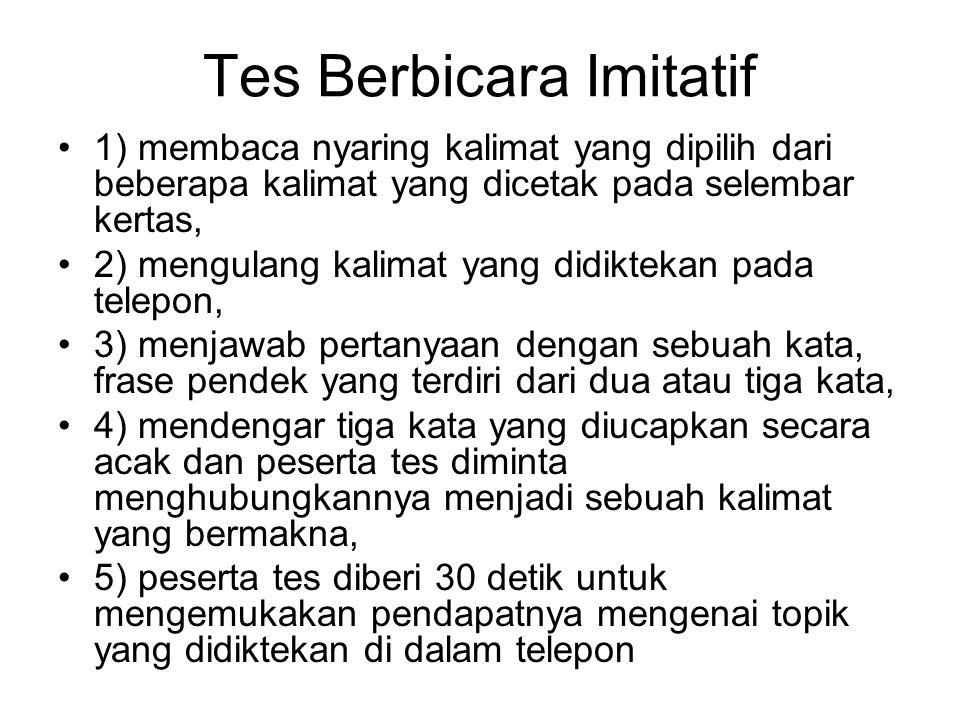 Tes Berbicara Imitatif