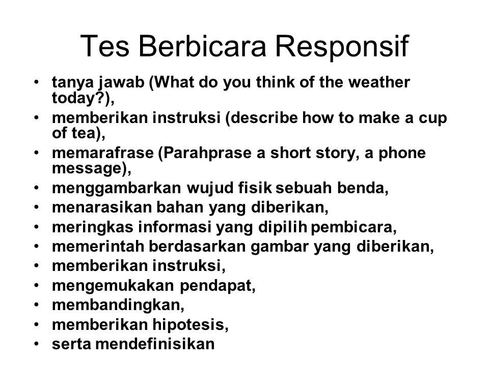 Tes Berbicara Responsif