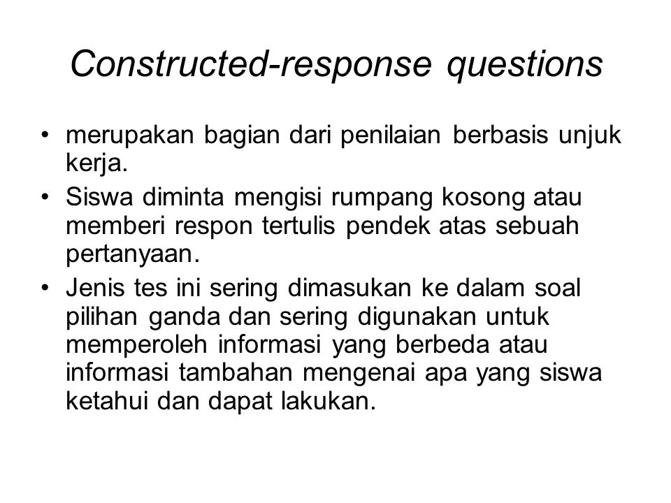 Constructed-response questions