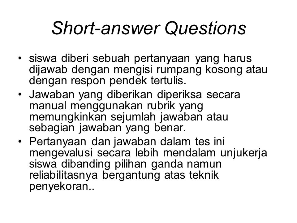 Short-answer Questions