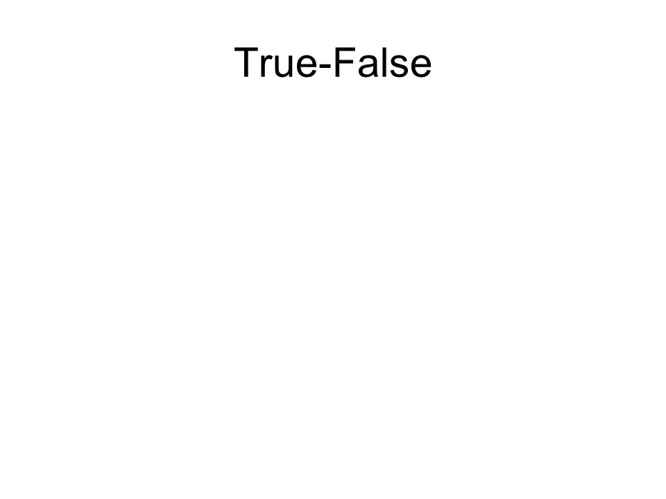 True-False